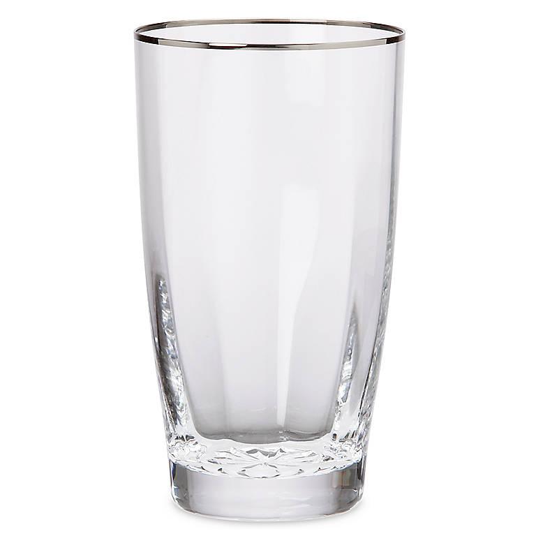 Crystal Andante Platinum Highball Glass by Gorham, Dinnerware Tableware Barware by Lenox