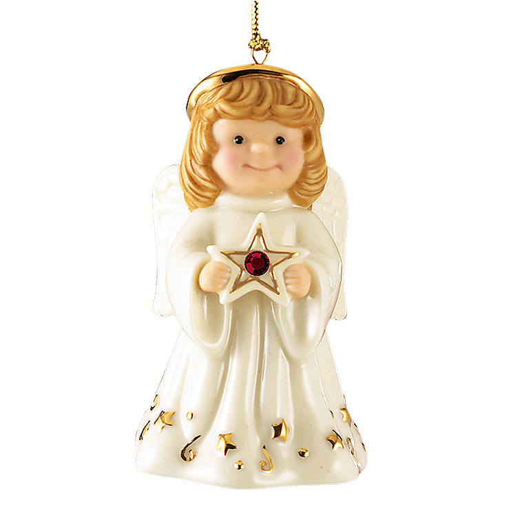 Ivory China Lenox My Birthstone Angel Personalized Ornament, Miniatures and Figurines Angels by Lenox