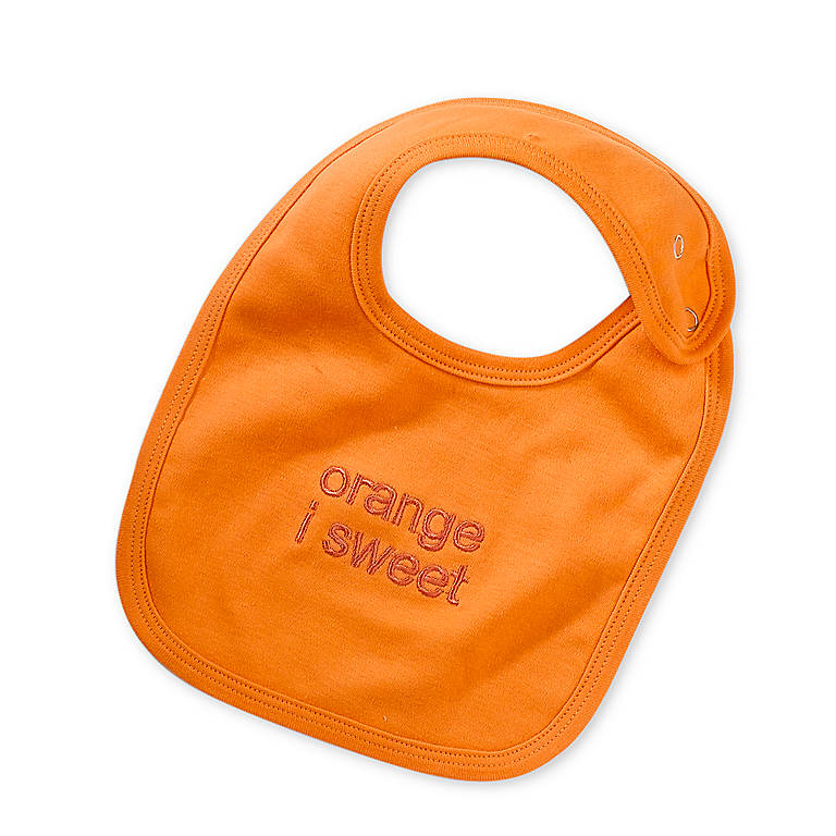 Fabric Orange I Sweet Bib, Gifts by Occasion New Baby by Lenox