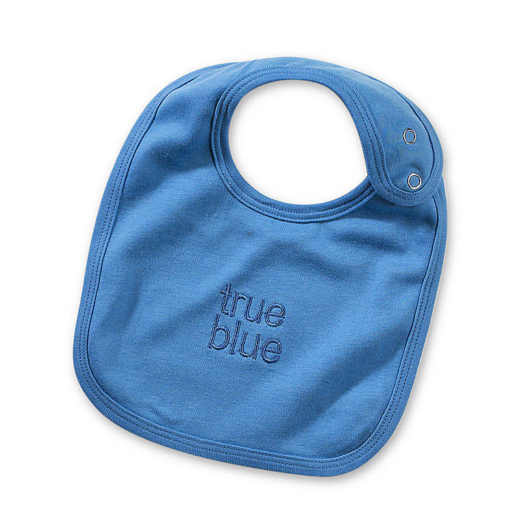 Fabric True Blue Bib, Gifts by Occasion New Baby by Lenox