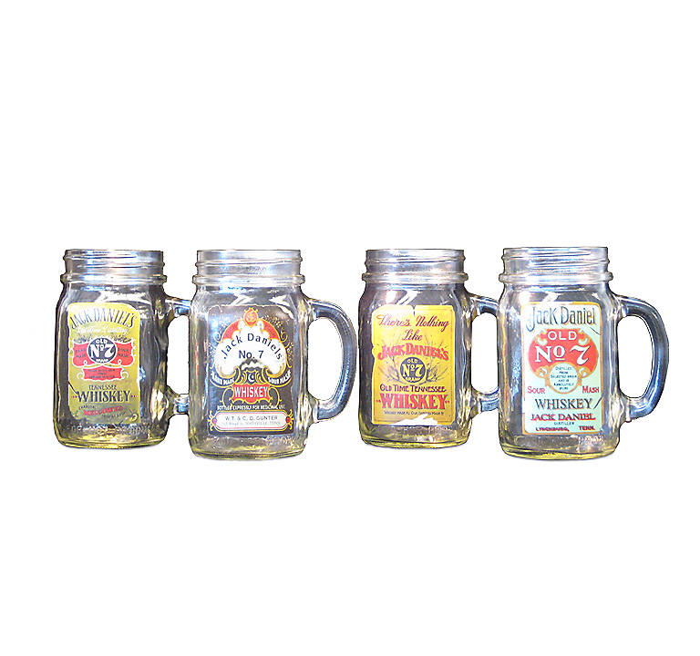 Glass Jack Daniel's Antique Label Mason Jar Set, Gifts by Occasion Father's Day by Lenox