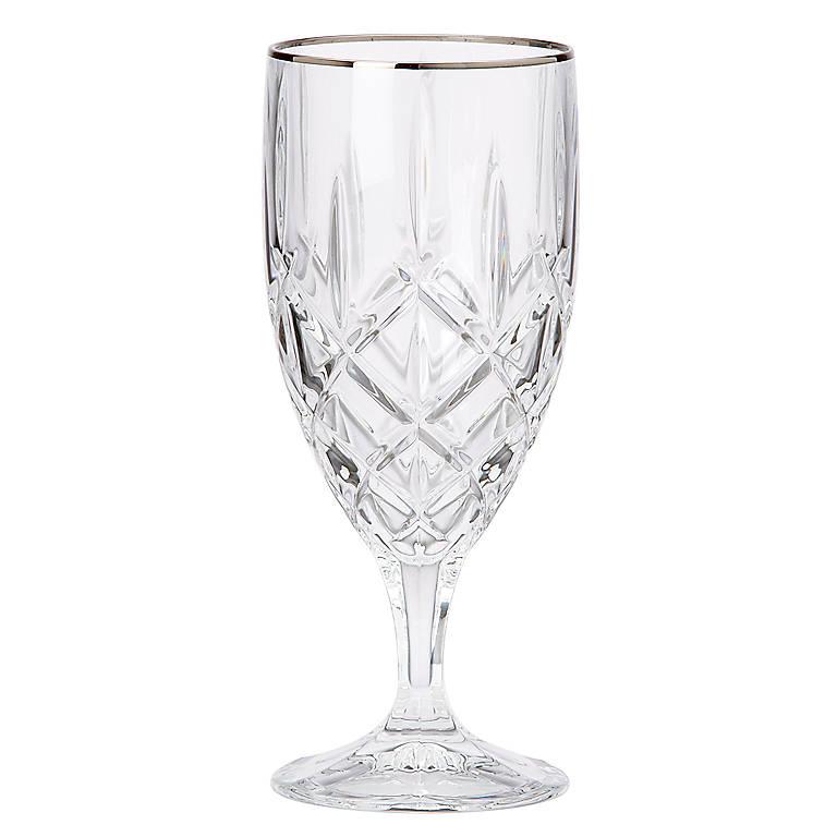 Crystal Gorham Lady Anne Signature Platinum Iced Beverage Glass, Dinnerware Tableware Barware by Lenox