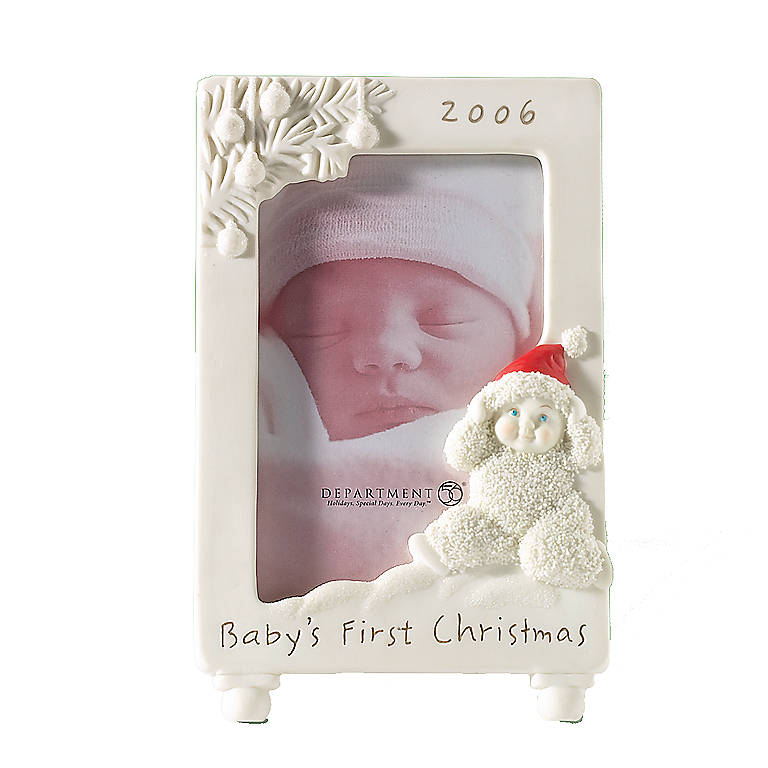 Porcelain Department 56 Snowbabies Baby's First Christmas Frame, Home Decorating Picture Frames by Lenox
