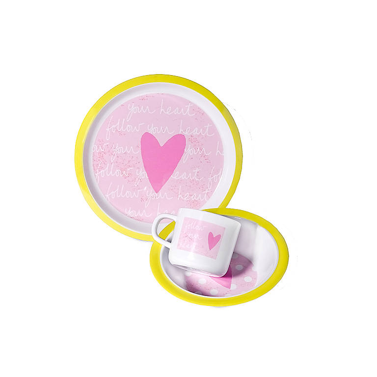 Baby Girl Melamine 3-piece Set, Gifts by Occasion New Baby by Lenox