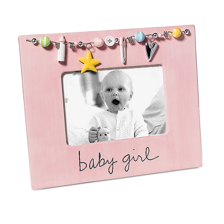 Ceramic Baby Girl Frame, Gifts by Occasion New Baby by Lenox
