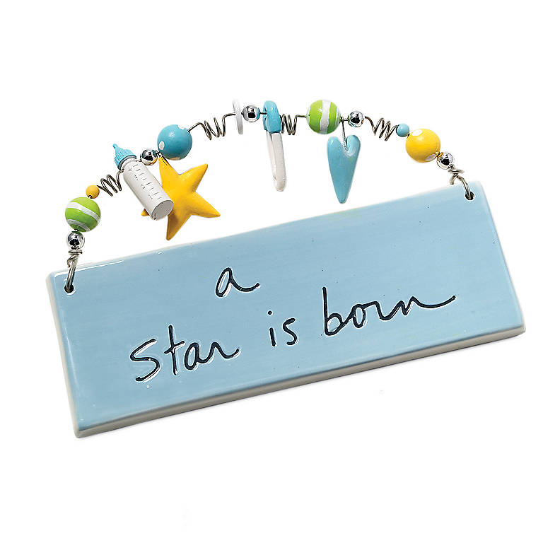 """Ceramic A Star is Born Plaque"""", Gifts by Occasion New Baby by Lenox"""