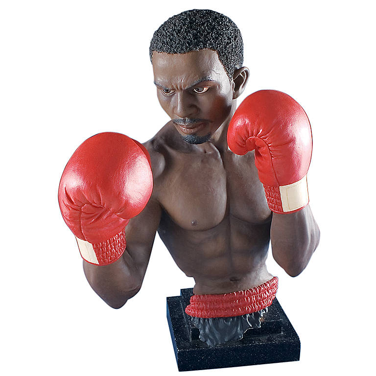 Resin Department 56 Art Impressions Pound for Pound Boxer Sculpture, Sculpture by Lenox