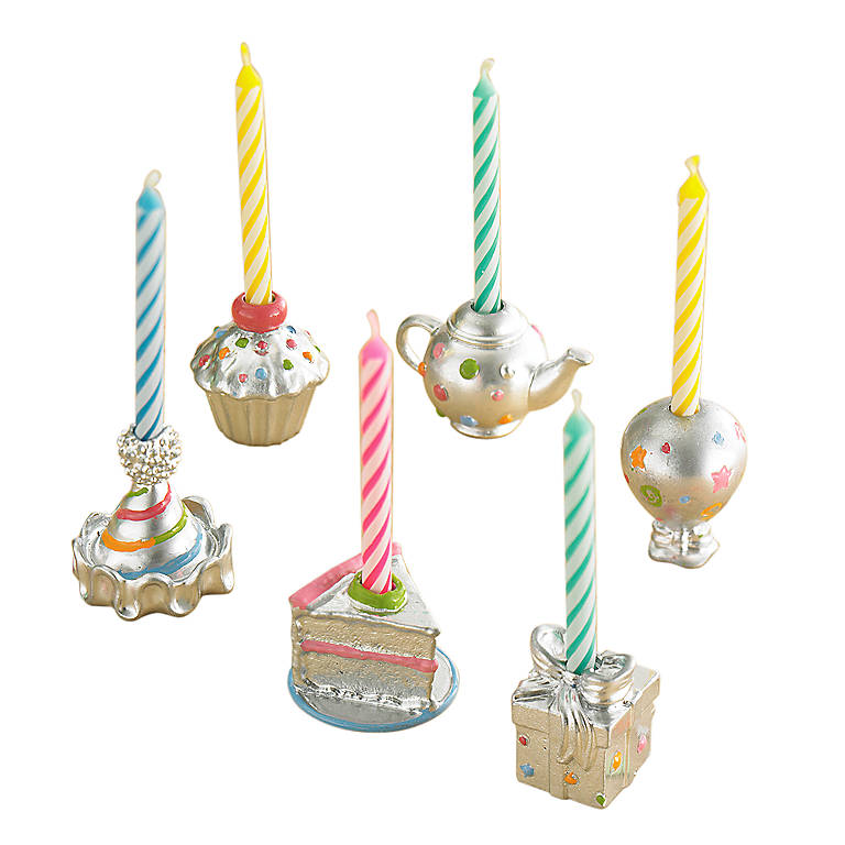 Metal Candles and Confetti Candleholders, Set of 6 by Lenox, Gifts by Occasion Birthday by Lenox