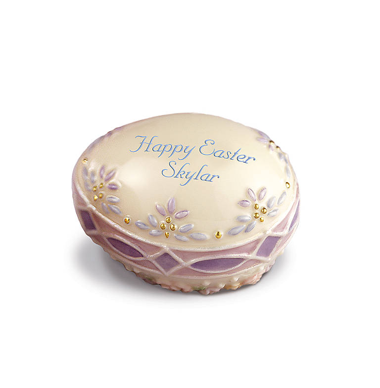 Ivory China Lenox Promise of Spring Lavender Elegance Collector Easter Egg, Gifts by Occasion Easter by Lenox