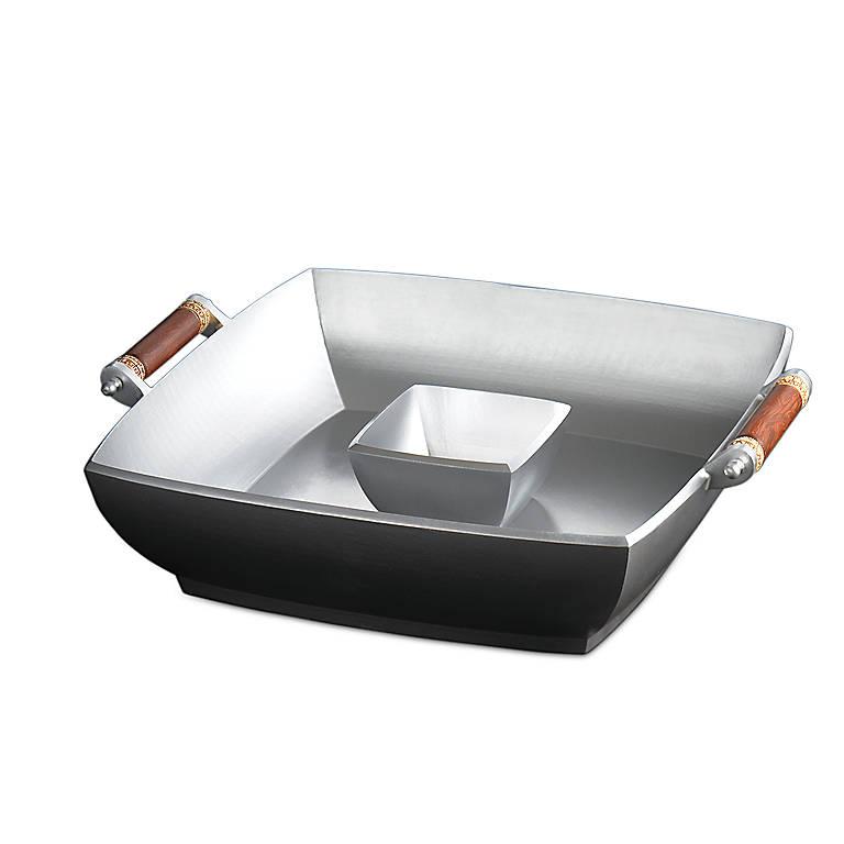 Metal Abbreo Chip 'n' Dip by Lenox, Dinnerware Serving Pieces Chip 'n' Dip by Lenox