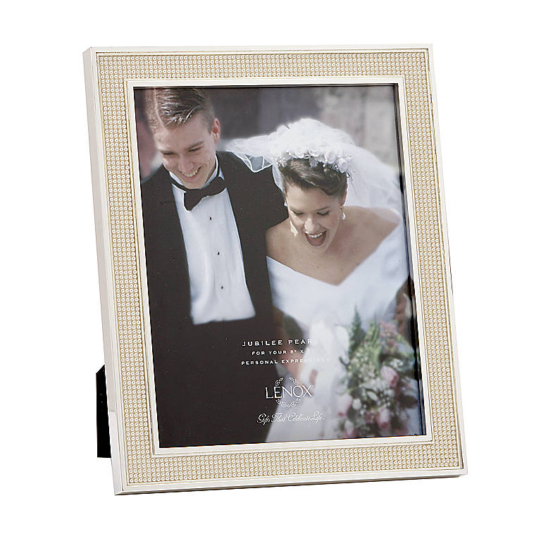 Metal Jubilee Pearl 8x10 Frame by Lenox, Home Decorating Picture Frames by Lenox