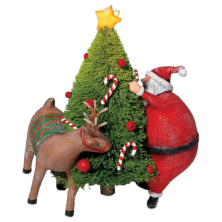 Santa and Reindeer Tree Ornament, Gifts by Occasion Christmas by Lenox
