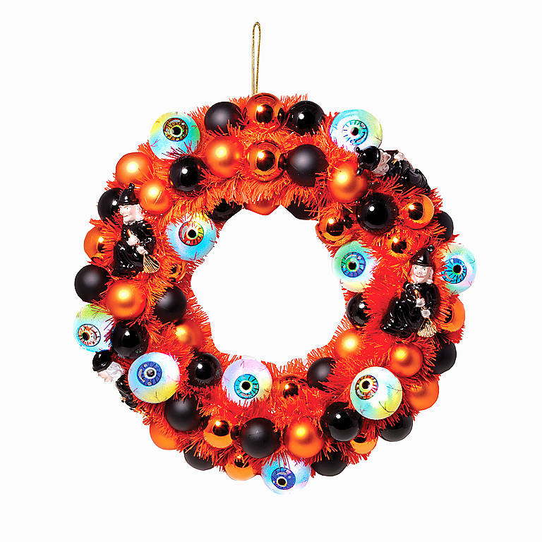 Lit Eyeball Tinsel Wreath, Gifts by Occasion Halloween by Lenox