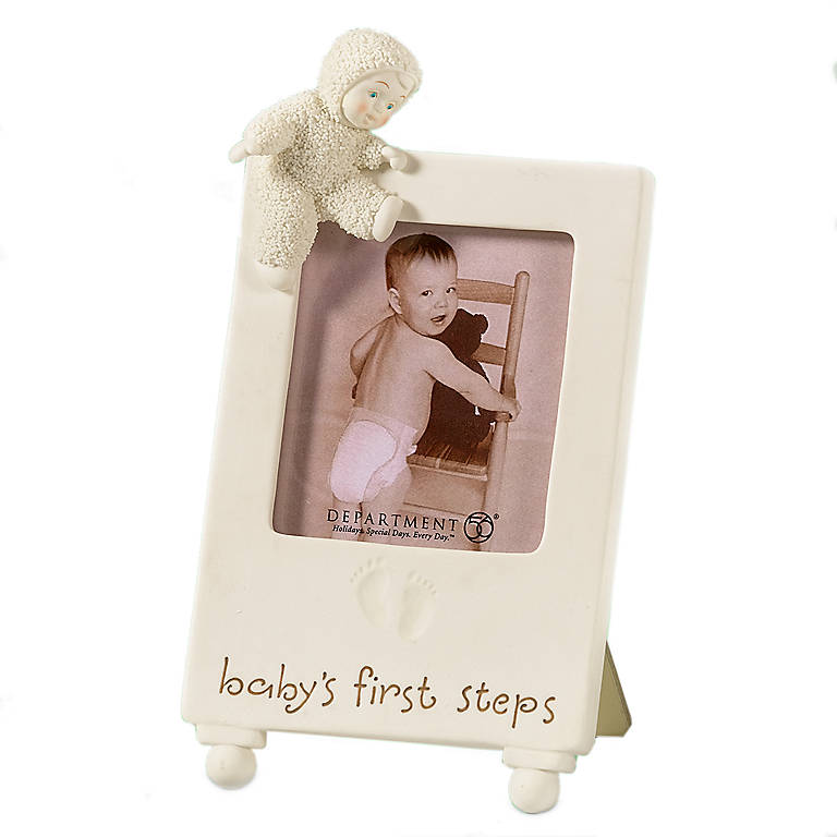 """Porcelain Snowbabies Baby's First Steps"""" Frame"""", Home Decorating Picture Frames by Lenox"""