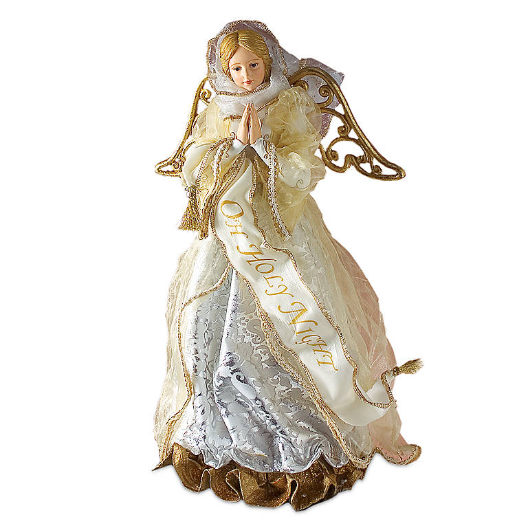 Possible Dreams Gold and Silver Angel Treetopper, Miniatures and Figurines Angels by Lenox