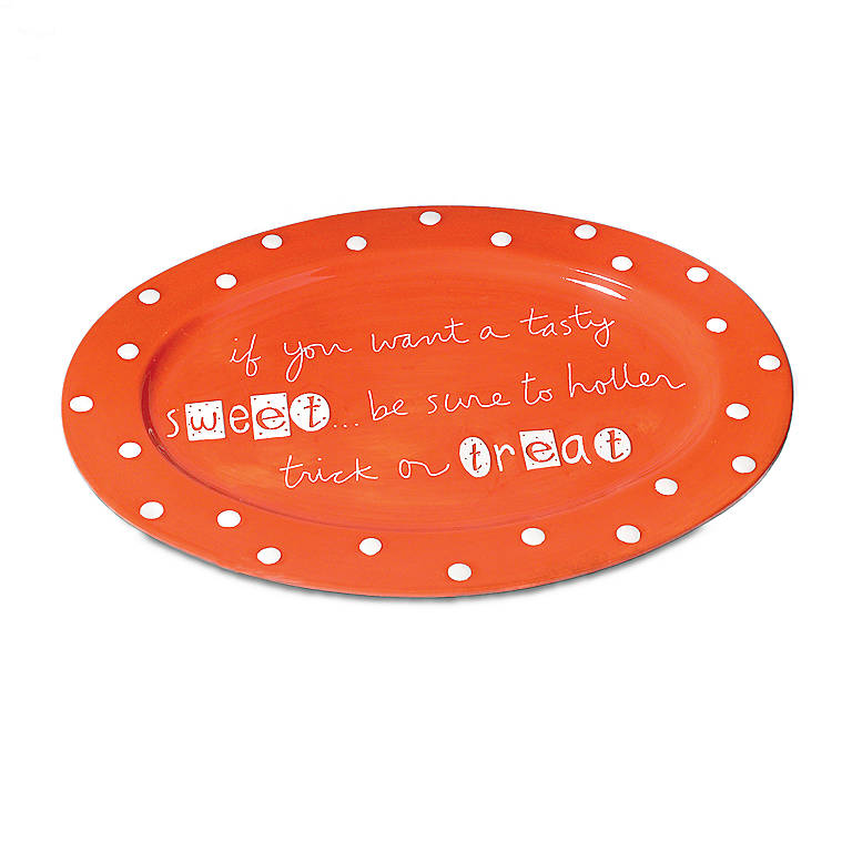 Ceramic Halloween Oval Platter, Gifts by Occasion Halloween by Lenox