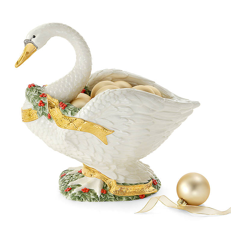 Ceramic Department 56 Swan Centerpiece Bowl, Home Decorating by Lenox