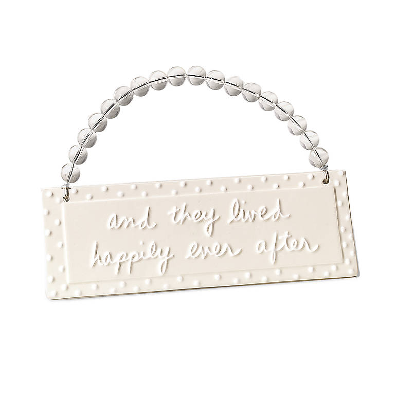 Ceramic Happily Ever After Plaque, Gifts by Occasion by Lenox