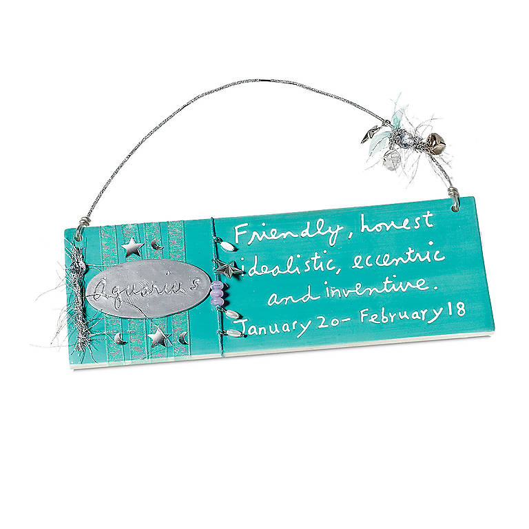 Ceramic Aquarius Message Plaque, Gifts by Occasion Birthday by Lenox