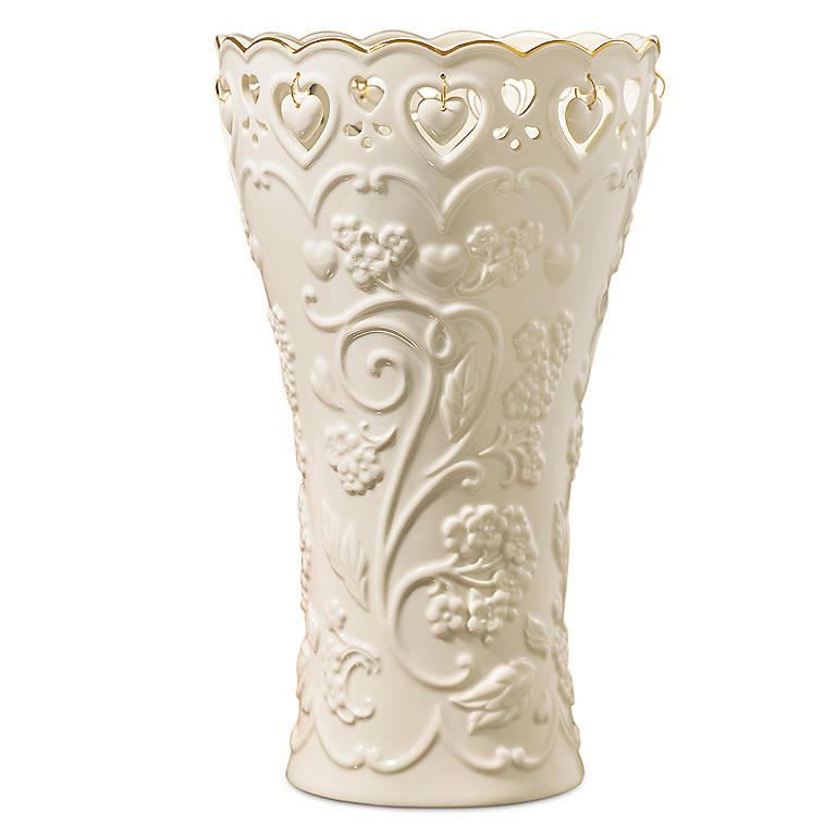Porcelain Floating Hearts Large Vase by Lenox, Home Decorating Vases by Lenox