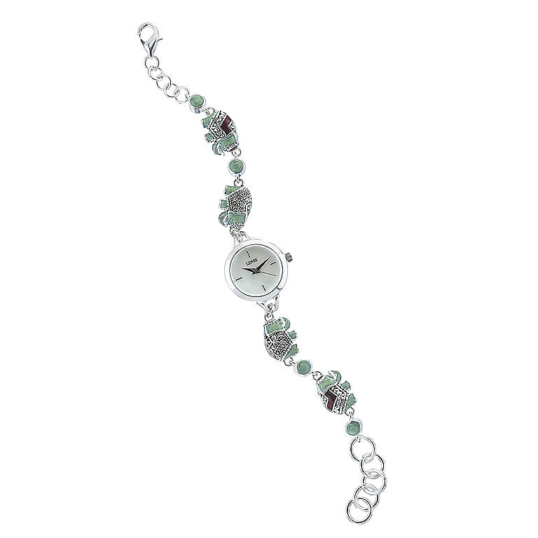 Sterling Silver Lenox Double Luck Elephant Watch, Women's Watches by Lenox