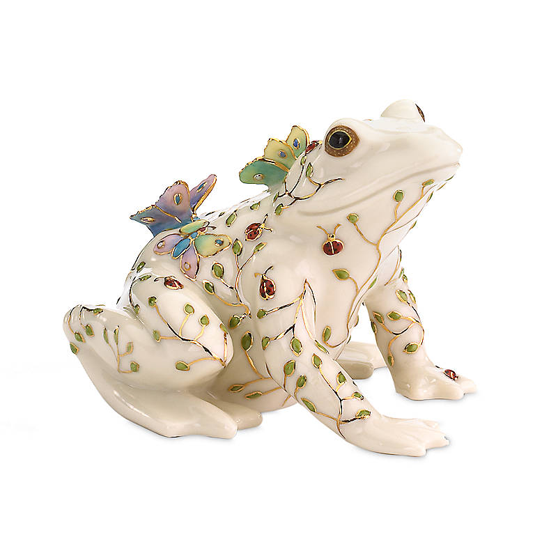 Ivory China Lenox Summer Enchantment Frog, Sculpture by Lenox