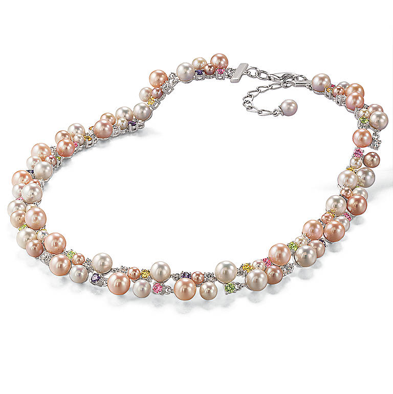 Sterling Silver Shimmering Pearls Necklace by Lenox, Costume Jewelry by Lenox