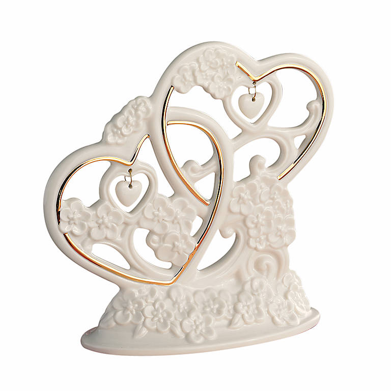 Porcelain Lenox Floating Hearts Cake Topper, Gifts by Occasion by Lenox