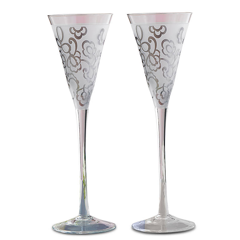 Crystal Lenox Heiress Flute Pair, Gifts by Occasion by Lenox