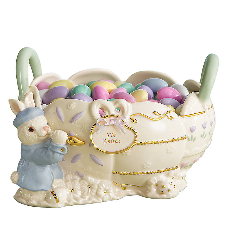 Ivory China Lenox Personalized Easter Basket, Home Decorating Baskets by Lenox