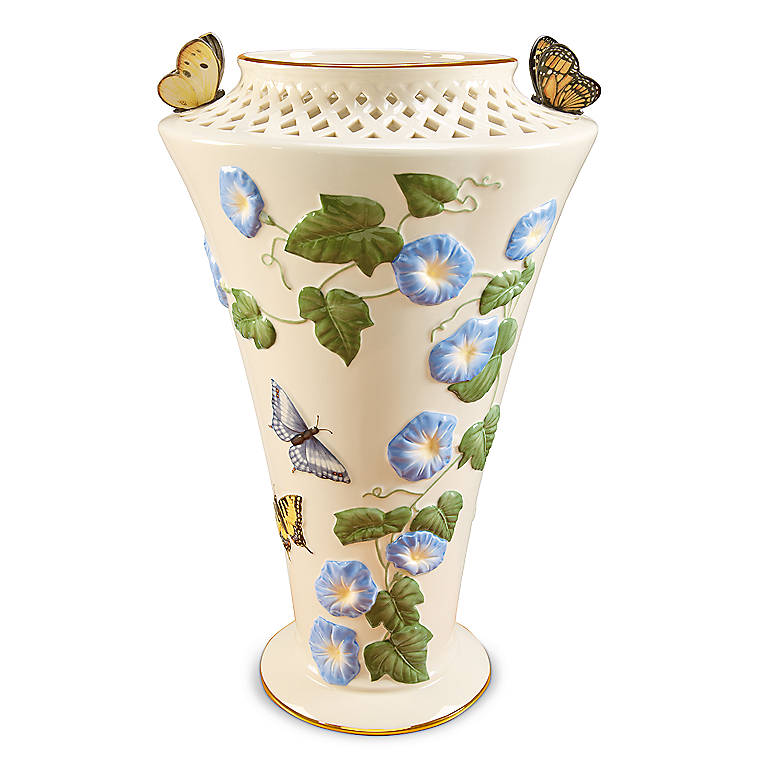 Ivory China Butterfly Garden Vase by Lenox, Home Decorating Vases by Lenox