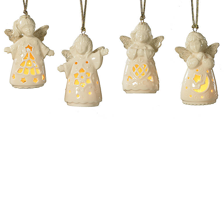 Ivory China Angelites, Set of 4 Ornaments, Miniatures and Figurines Angels by Lenox