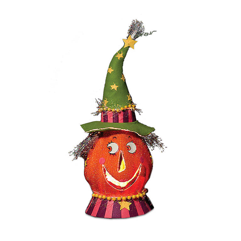 Fabric Party Pumpkin Head, Green, Gifts by Occasion Halloween by Lenox