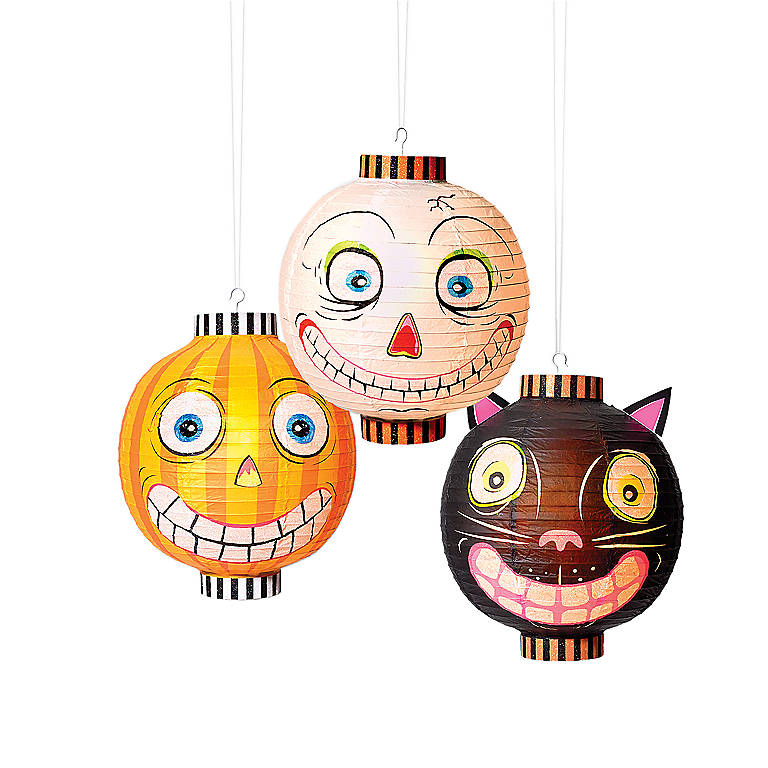 Paper Halloween Paper Lantern, Orange, Gifts by Occasion Halloween by Lenox