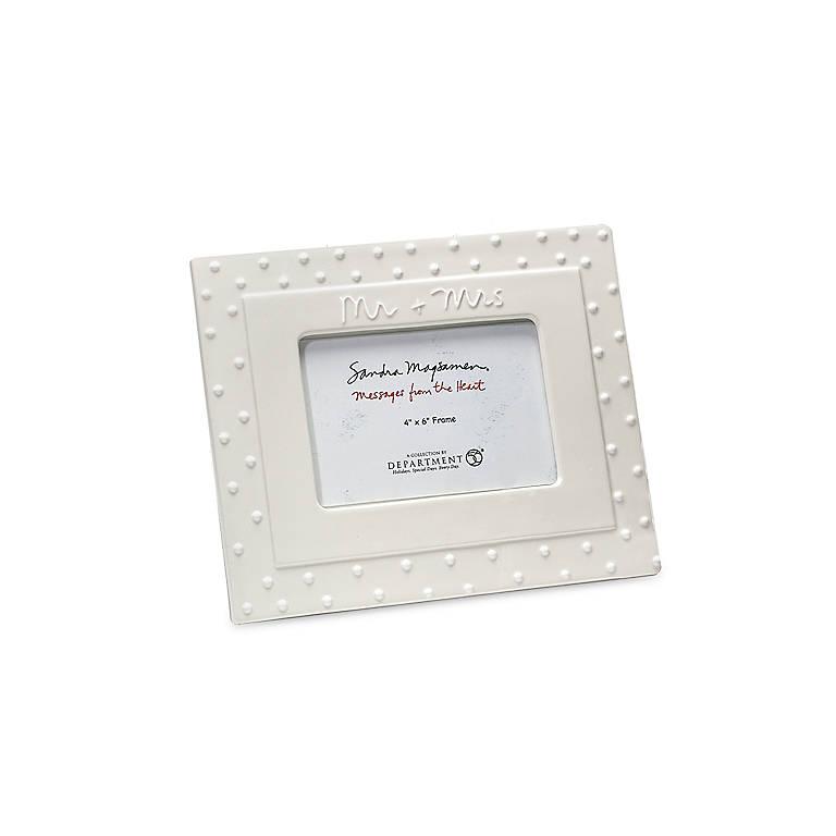 Ceramic Wedding Frame Mr. + Mrs., Home Decorating Picture Frames by Lenox