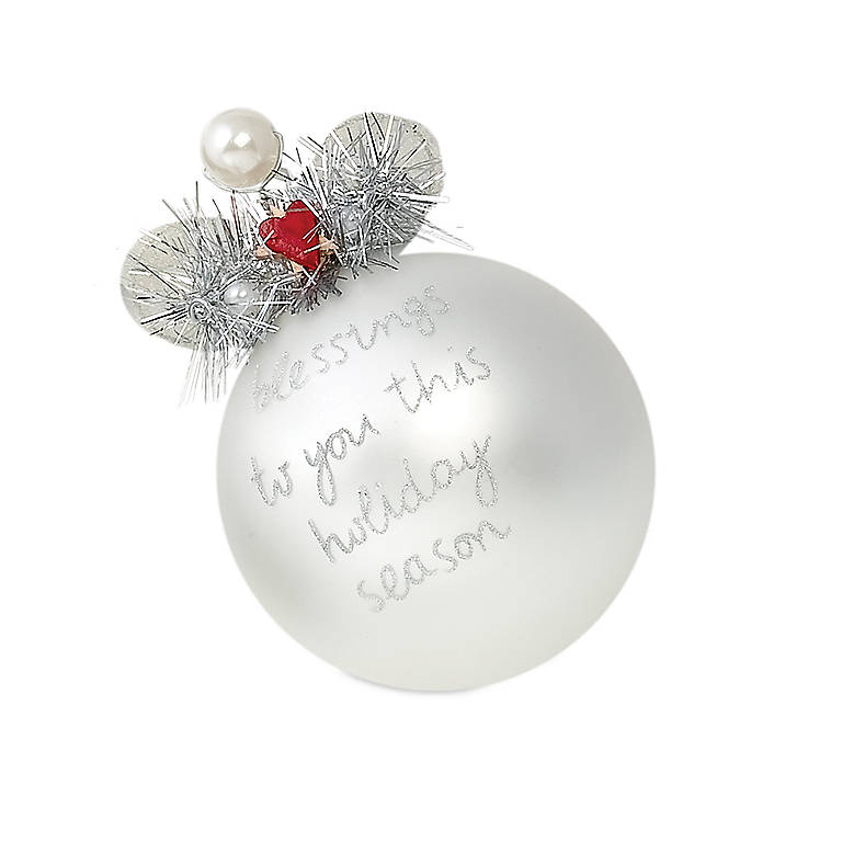 Department 56 Glass Angel Ball Ornament - Blessings to You, Gifts by Occasion Christmas by Lenox