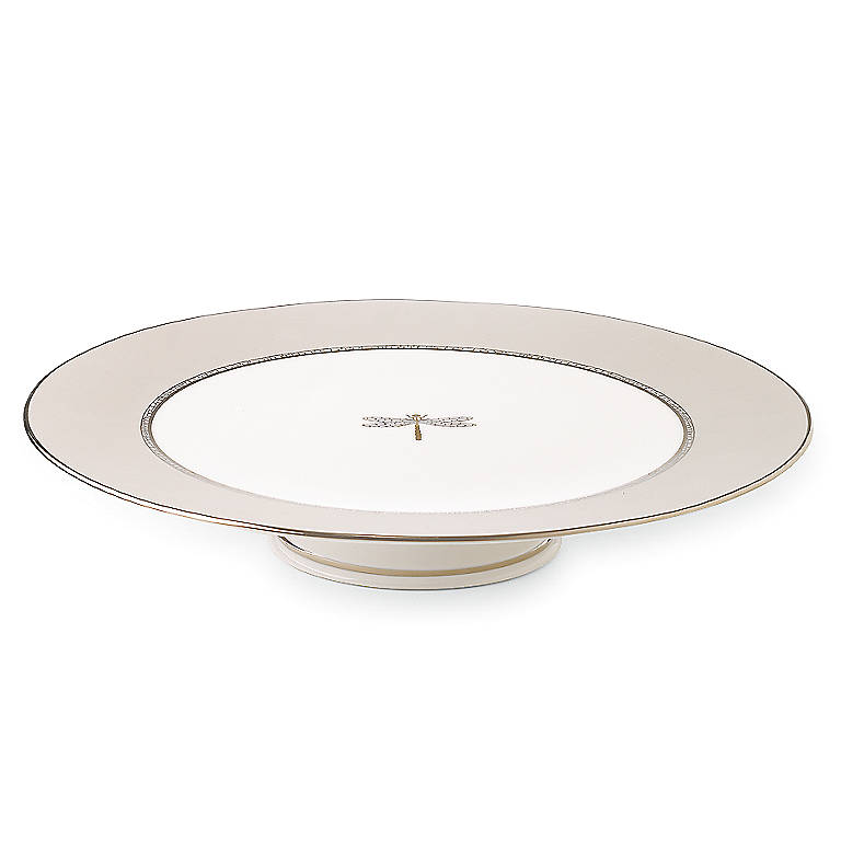 Ivory China kate spade June Lane Cake Plate, Dinnerware Serving Pieces Cake Plates by Lenox