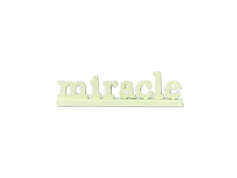 Metal Department 56 Miracle Sign, Photography and Prints by Lenox