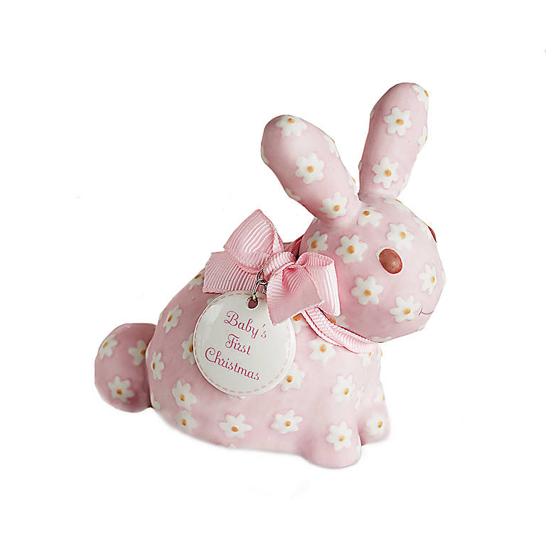 Porcelain Department 56 Pink Bunny Ornament, Gifts by Occasion New Baby by Lenox