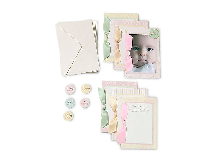Paper Department 56 Baby Girl Photocards, Set of 6, Stationery by Lenox