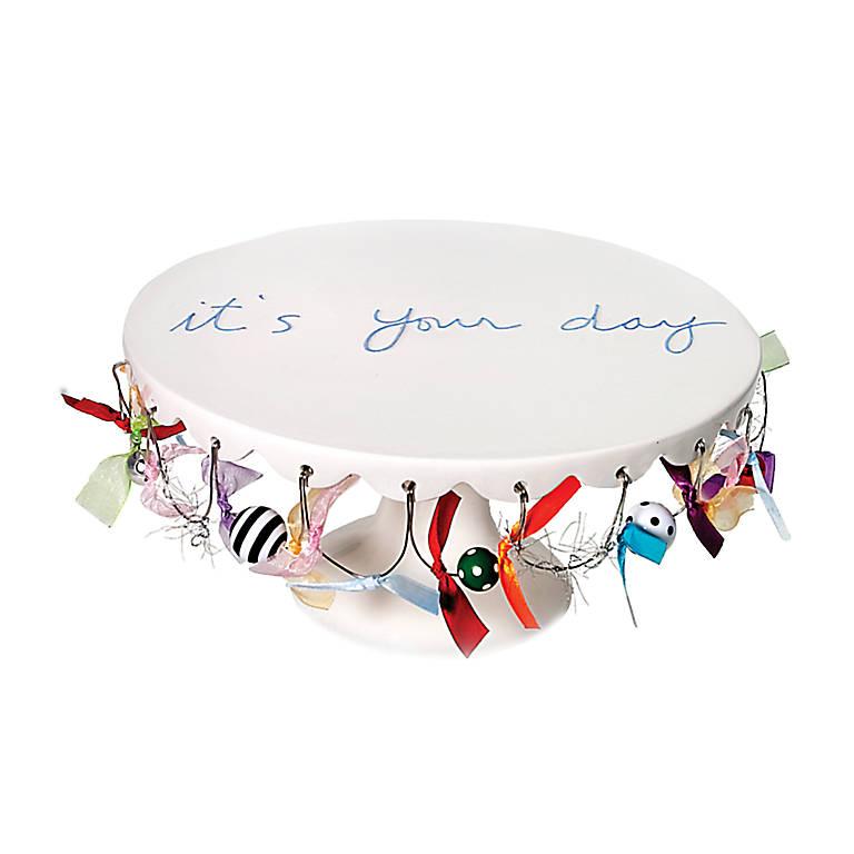 Ceramic Department 56 Celebrate Cake Plate, Dinnerware Serving Pieces Cake Plates by Lenox