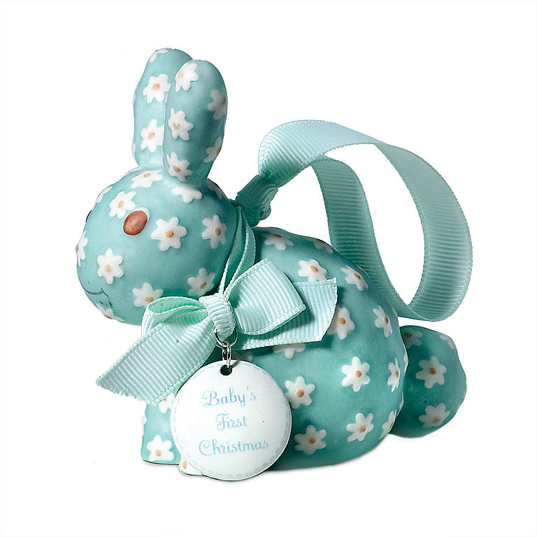 Porcelain Department 56 Blue Rabbit Ornament, Gifts by Occasion Christmas by Lenox