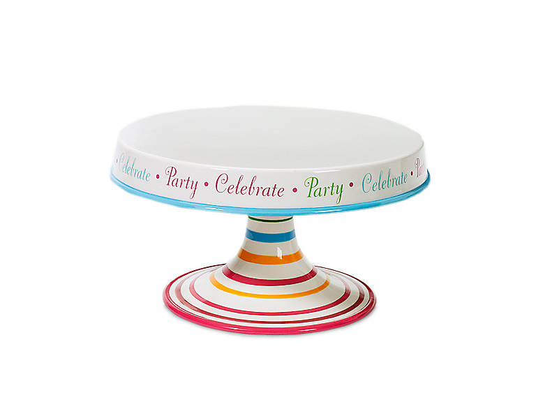 Ceramic Birthday Cake Stand, Dinnerware Serving Pieces Cake Plates by Lenox