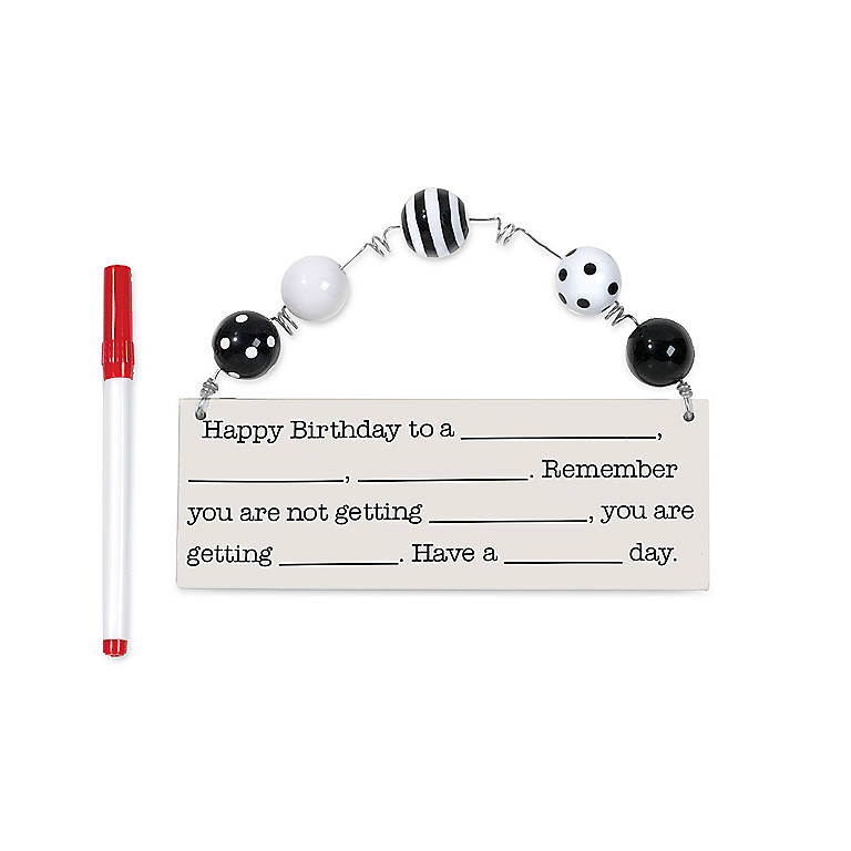 Ceramic Department 56 Happy Birthday Add Lib Plaque, Gifts by Occasion Birthday by Lenox