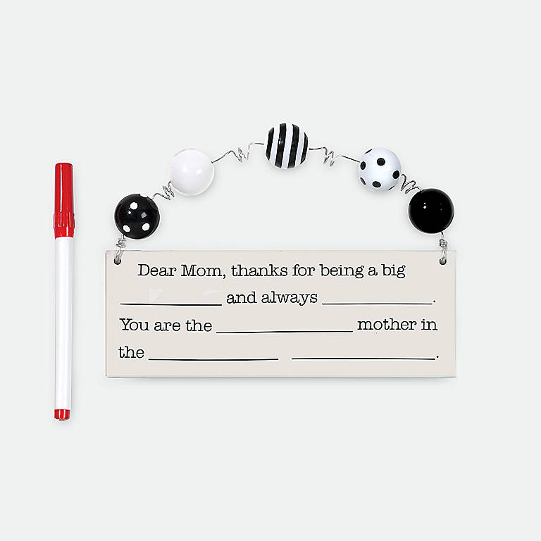 Ceramic Dear Mom Add Lib Plaque, Gifts by Occasion Mother's Day by Lenox