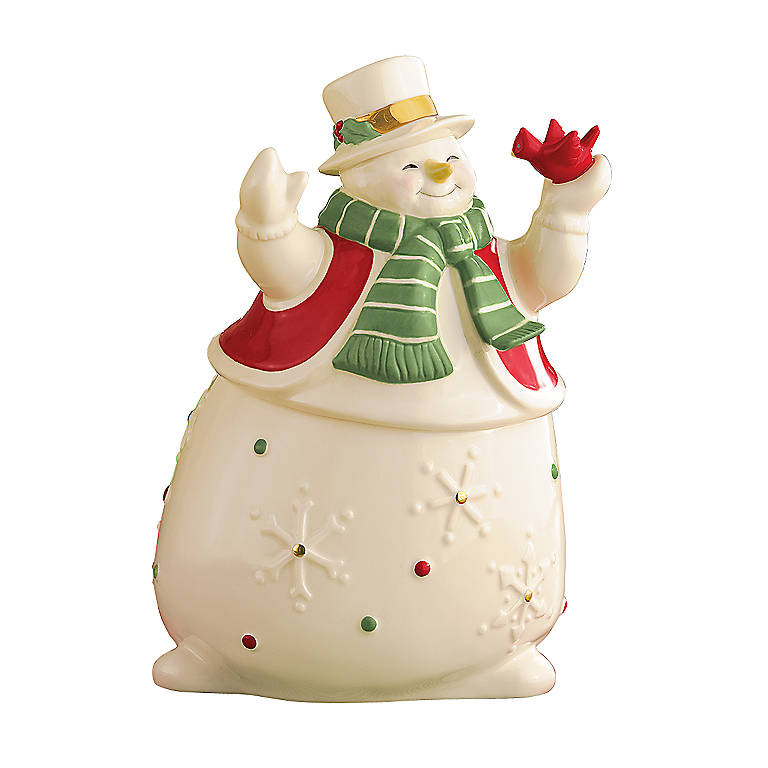 Porcelain Lenox Merry Musicals Snowman Music Box, Home Decorating Music Boxes by Lenox
