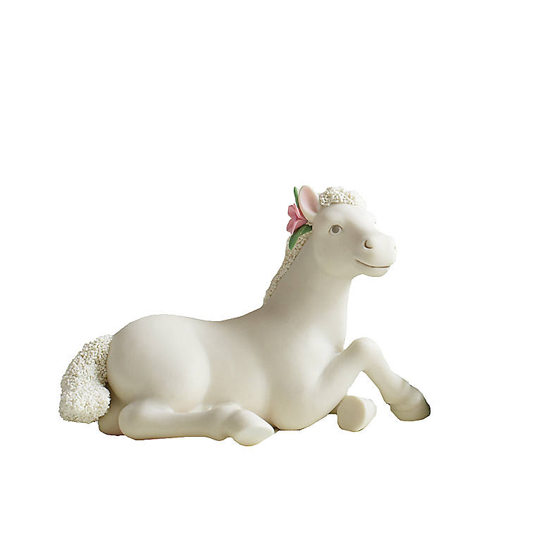Porcelain Department 56 Collectible Pony, Sitting, Sculpture by Lenox