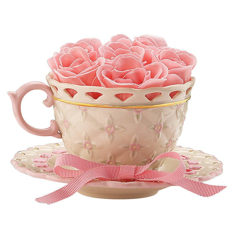 Ivory China Ribbons and Roses Teacup by Lenox, Gifts by Occasion Mother's Day by Lenox