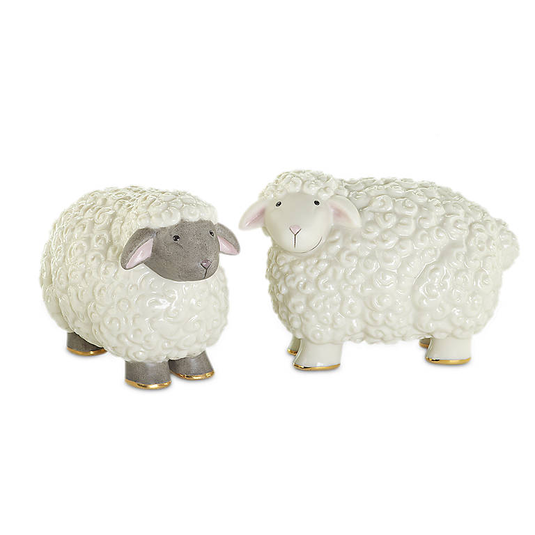 Ivory China Lenox Sheepy Shakers, Dinnerware Serving Pieces Salt and Pepper Shakers by Lenox