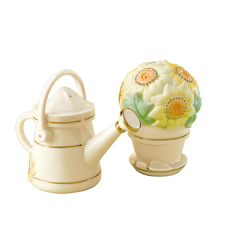 Ivory China Garden Shakers by Lenox, Dinnerware Serving Pieces Salt and Pepper Shakers by Lenox